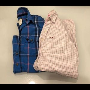 Hollister Abercrombie Button Up Shirts Lot XS